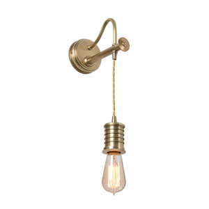 Douille Aged Brass LED Sconce