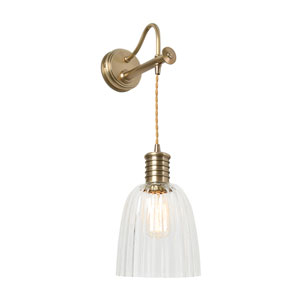 Douille Aged Brass LED Sconce with Glass Shade