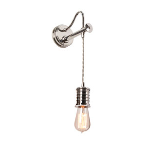 Douille Polished Nickel LED Sconce