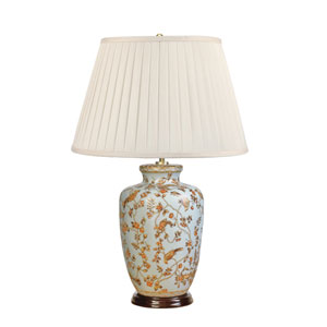 Gold Birds and Berries Cream and Gold One-Light Table Lamp