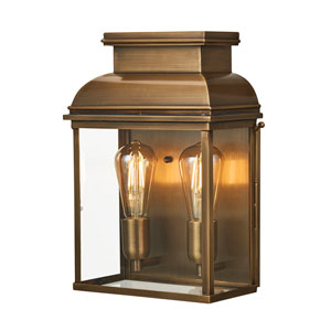 Old Bailey Brass Two-Light Outdoor Wall Lantern