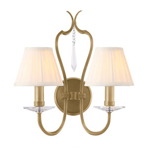 Pimlico Aged Brass Two-Light Wall Sconce