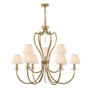 Pimlico Aged Brass Nine-Light Chandelier