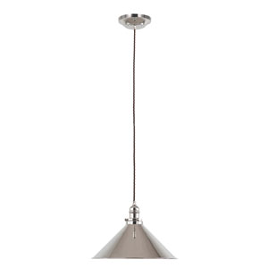 Provence Polished Nickel 15-Inch One-Light Pendant
