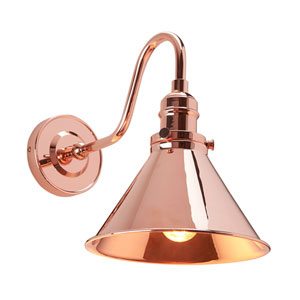 Provence Polished Copper One-Light Wall Sconce