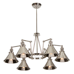 Provence Polished Nickel Six-Light Chandelier
