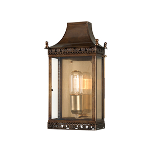 Regents Park Aged Brass One-Light Outdoor Wall Sconce