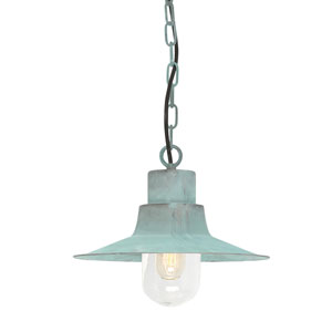 Sheldon Verdigris One-Light Outdoor Pendant