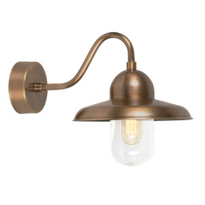 Somerton Aged Brass One-Light Outdoor Wall Sconce