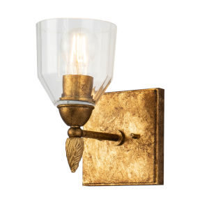 Fun Finial Gold Leaf with Antique One-Light Wall Sconce