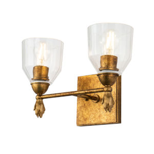 Fun Finial Polished Chrome Gold Two-Light Wall Sconce