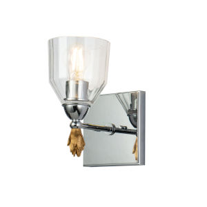 Fun Finial Silver One-Light Wall Sconce