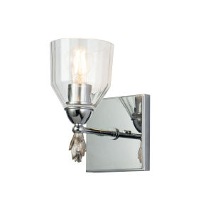 Fun Finial Polished Chrome One-Light Wall Sconce
