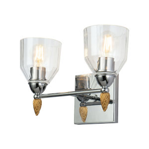 Fun Finial Silver Two-Light Wall Sconce