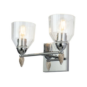 Fun Finial Polished Chrome Two-Light Wall Sconce