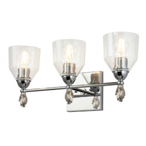 Fun Finial Polished Chrome Three-Light Acorn Wall Sconce