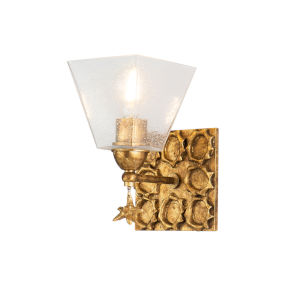 Star Gold Leaf with Antique One-Light Wall Sconce