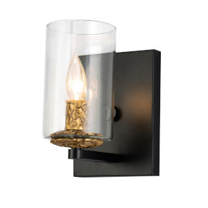 Bolivar Matte Black One-Light Wall Sconce