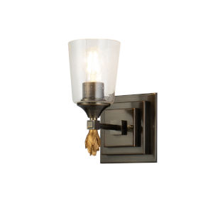 Vetiver Dark Bronze Gold Accent One-Light Wall Sconce