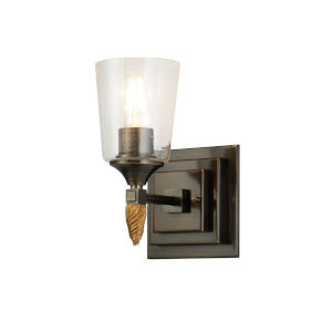 Vetiver Dark Bronze One-Light Wall Sconce