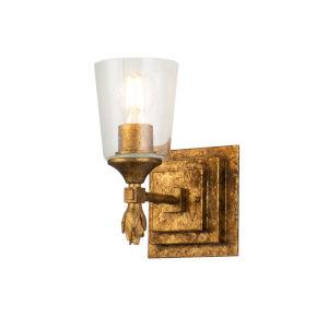 Vetiver Gold Leaf One-Light Wall Sconce