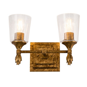 Vetiver Gold Leaf Two-Light Bath Vanity