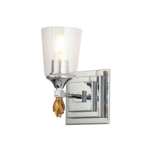 Vetiver Polished Chrome Gold One-Light Wall Sconce