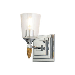 Vetiver Polished Chrome Gold Accent One-Light Wall Sconce