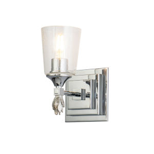 Vetiver Polished Chrome Silver One-Light Wall Sconce
