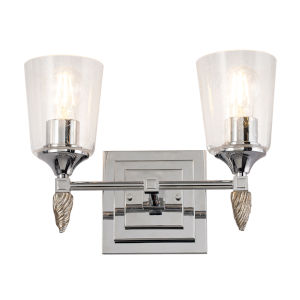 Vetiver Polished Chrome Silver Two-Light Bath Vanity