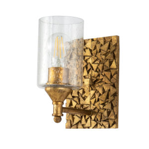 Mosaic Gold Leaf with Antique One-Light Wall Sconce