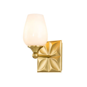 Epsilon Antique Brass One-Light Wall Sconce