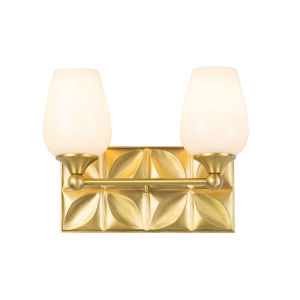 Epsilon Antique Brass Two-Light Bath Vanity