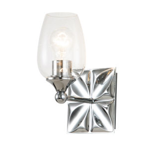 Epsilon Polished Chrome One-Light Wall Sconce