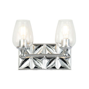 Epsilon Polished Chrome Two-Light Bath Vanity