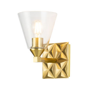 Alpha Antique Brass One-Light Wall Sconce