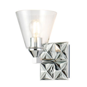 Alpha Polished Chrome One-Light Wall Sconce