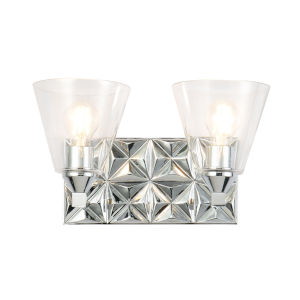 Alpha Polished Chrome Two-Light Wall Sconce
