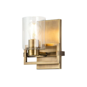 Estes Antique Brass One-Light Wall Sconce