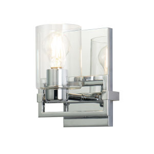 Estes Polished Chrome One-Light Wall Sconce