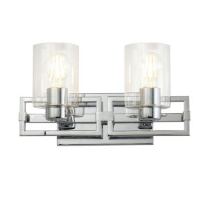 Estes Polished Chrome Two-Light Bath Vanity