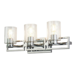 Estes Polished Chrome Three-Light Bath Vanity