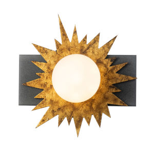 Soleil Weather Zinc Gold Leaf with Antique One-Light LED Wall Sconce