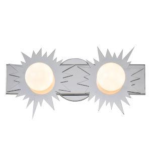 Soleil Polished Chrome Two-Light LED Bath Vanity