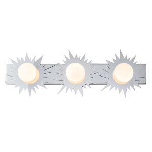 Soleil Polished Chrome Three-Light LED Bath Vanity