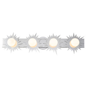 Soleil Polished Chrome Four-Light Bath Vanity