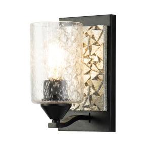 Bocage Matte Black Light Bronze One-Light Wall Sconce