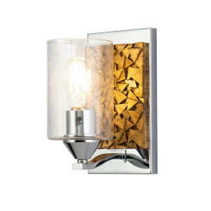 Bocage Polished Chrome Bronze One-Light Wall Sconce