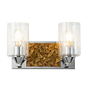 Bocage Polished Chrome Bronze Two-Light Bath Vanity