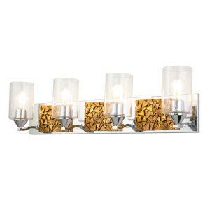 Bocage Polished Chrome Gold Four-Light Bath Vanity